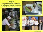 i miejsce w og lnopolskim konkursie na najlepszy przepis kulinarny