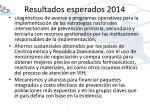 resultados esperados 2014
