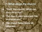 7 what about the church