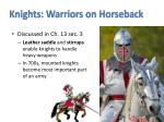 knights warriors on horseback
