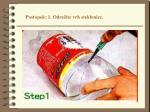 postopek 1 odre ite vrh steklenice