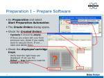 preparation i prepare software