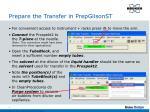 prepare the transfer in prepgilsonst1