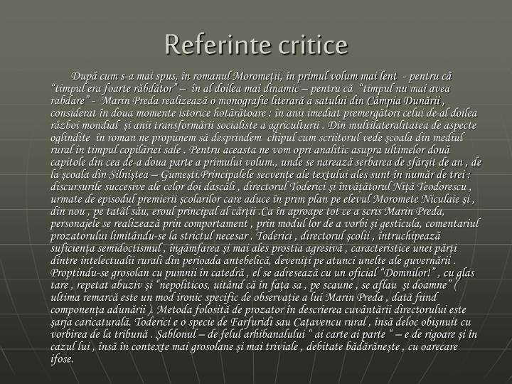Referinte critice