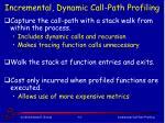 incremental dynamic call path profiling1