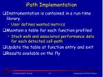 ipath implementation