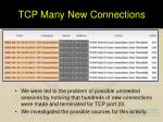 tcp many new connections