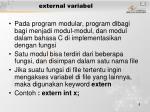 external variabel