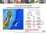 ur en tektonick nap tie ohniskov mechanizmus zemetrasenia 11 3 2011