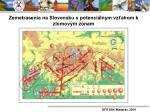 zemetrasenia na slovensku s potenci lnym vz ahom k zlomov m z nam