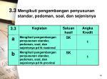 3 3 mengikuti pengembangan penyusunan standar pedoman soal dan sejenisnya