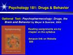 psychology 181 drugs behavior2