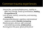 common trauma experiences