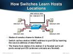 how switches learn hosts locations