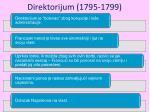 direktorijum 1795 1799