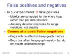 false positives and negatives