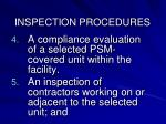 inspection procedures1