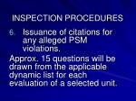 inspection procedures2