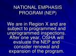 national emphasis program nep2