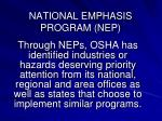 national emphasis program nep3