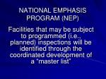 national emphasis program nep4