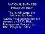 national emphasis program nep5