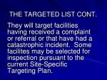 the targeted list cont5