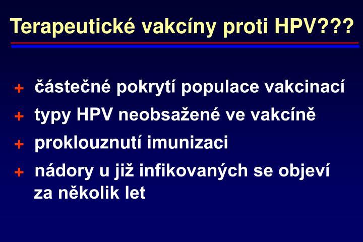 Terapeutické vakcíny proti HPV???