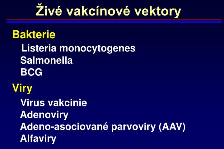 Živé vakcínové vektory