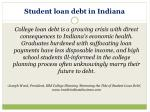 student loan debt in indiana