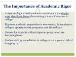 the importance of academic rigor