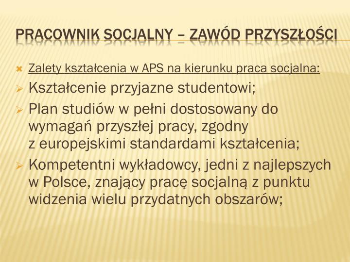 Zalety kształcenia w APS na kierunku praca socjalna: