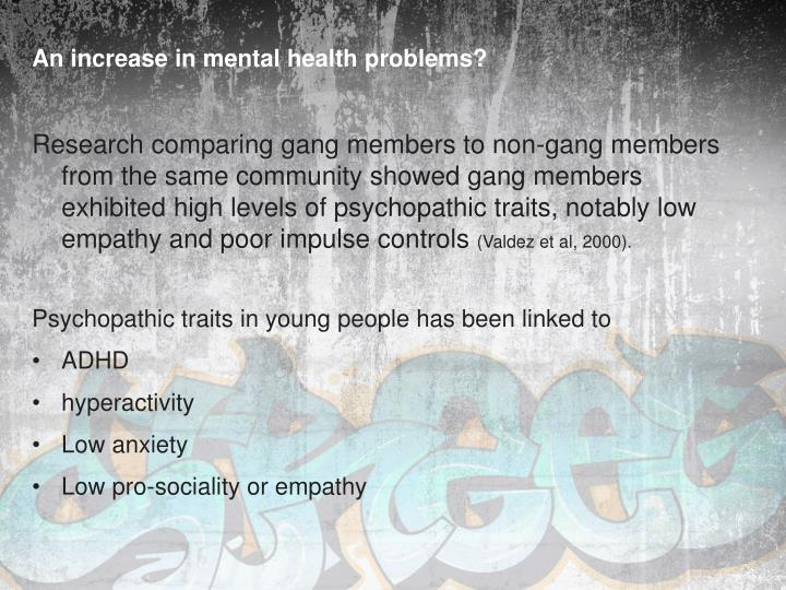 An increase in mental health problems?