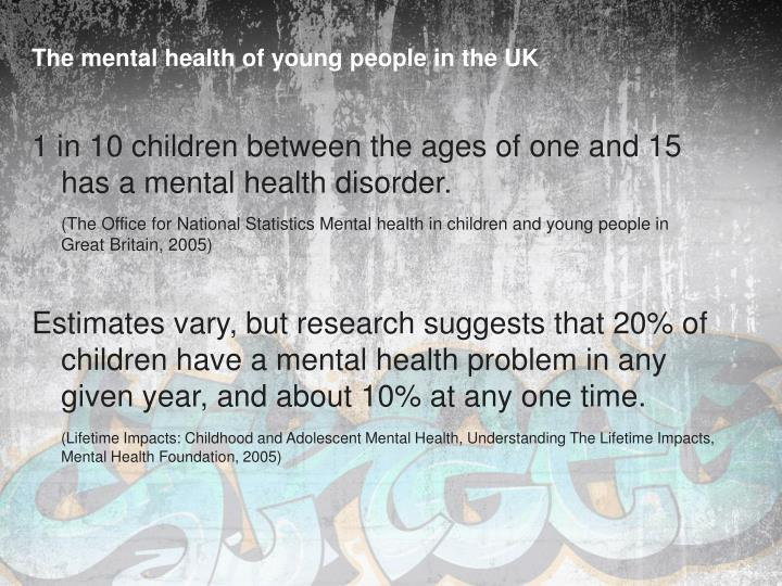 The mental health of young people in the UK