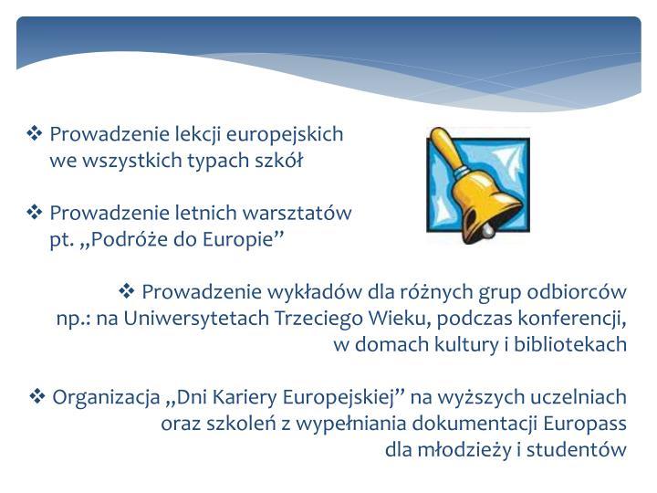 Prowadzenie lekcji europejskich