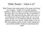 table tennis what is it