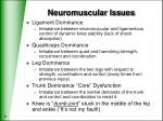 neuromuscular issues
