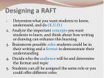 designing a raft
