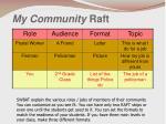 my community raft