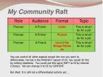 my community raft1