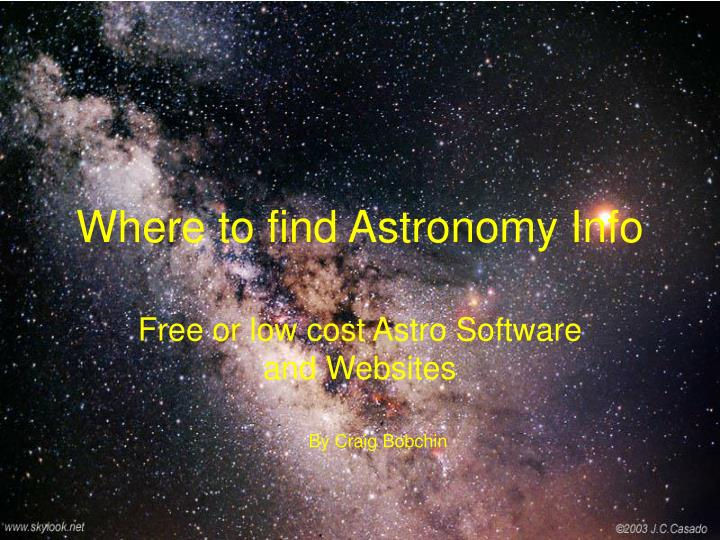 where to find astronomy info n.