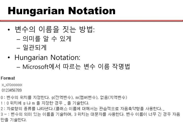Hungarian Notation