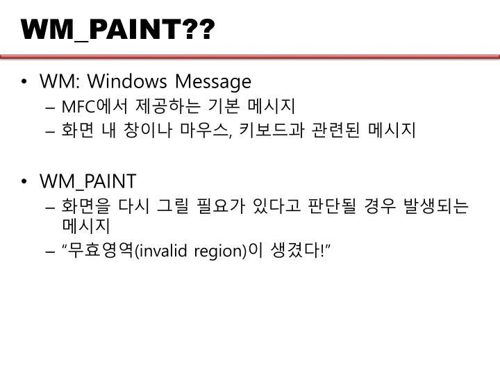 WM_PAINT??