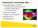 intresset f r mentorskap kar