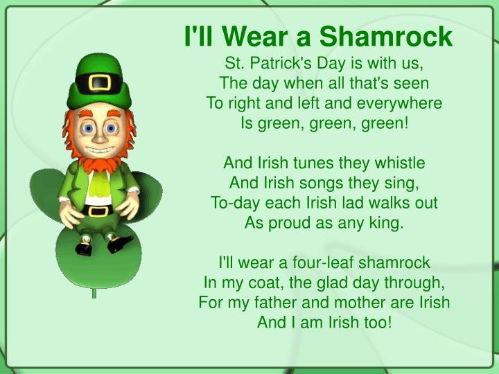 I'll Wear a Shamrock