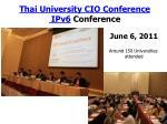 thai university cio conference ipv6 conference