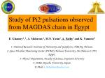 study of pi2 pulsations observed from magdas chain in egypt