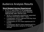 audience analysis results1