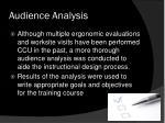 audience analysis1