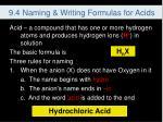 9 4 naming writing formulas for acids